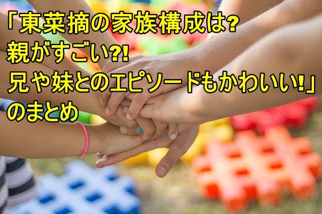 東菜摘の家族構成は?親がすごい?!兄や妹とのエピソードもかわいい!6