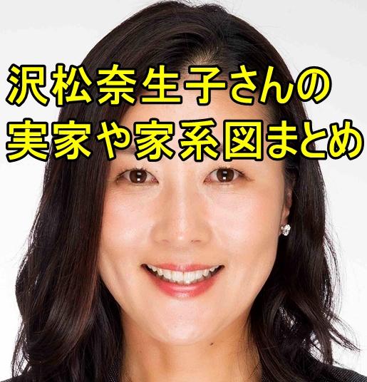 沢松奈生子の実家が豪邸って本当?父の職業は?家系図もすごい!3